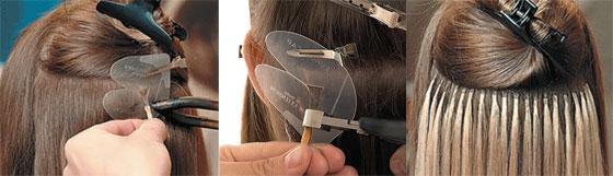 Горячая итальянская технология наращивания волос Euro So Cap