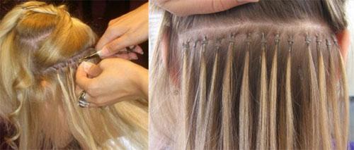 Фото способы наращивания волос