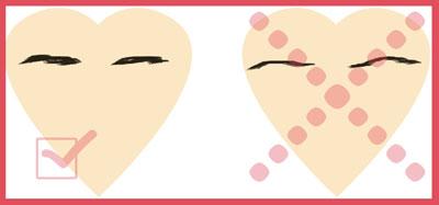 Коррекция формы лица с помощью формы бровей