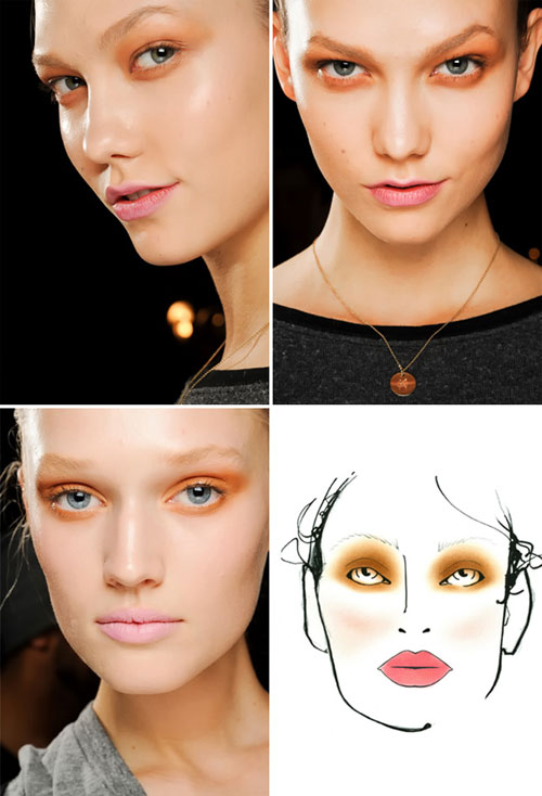 Модный макияж осень-зима 2011-2012: Donna Karan