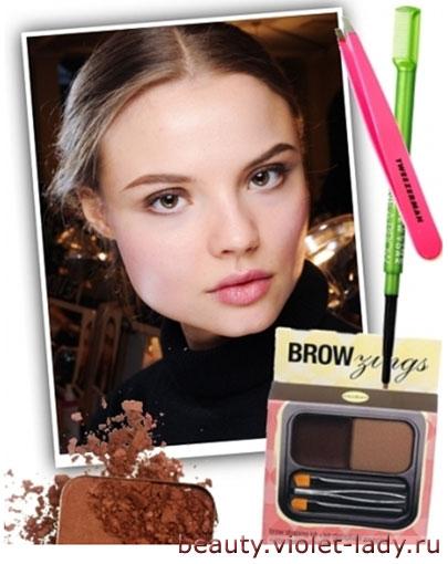 Осенний макияж: Макияж в коричневых тонах