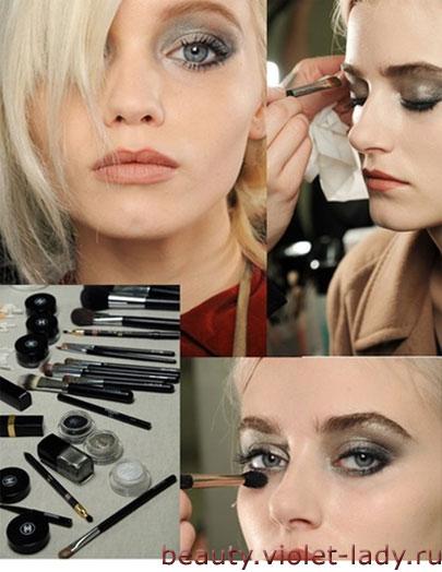 Осенний макияж в серых тонах