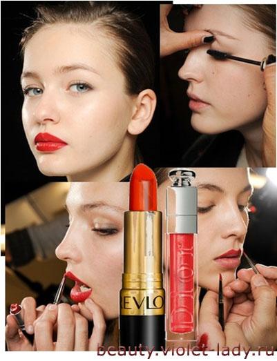 Осенний макияж: Макияж в стиле вамп