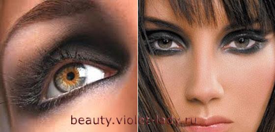 Как сочетать два цвета теней, для создания идеального макияжа Smoky Eyes