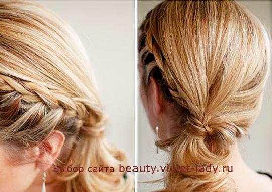 легкая прическа на среднюю длину волос