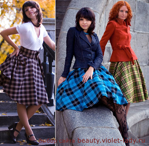 С чем носить юбку по косой