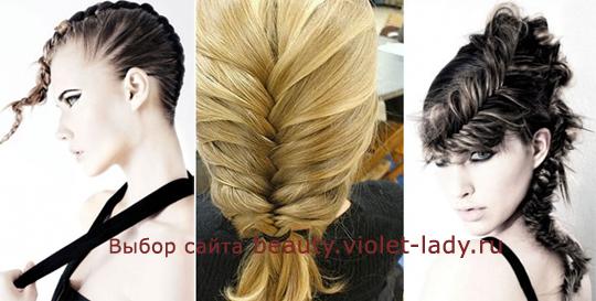Как плести косы на средние длины волосы