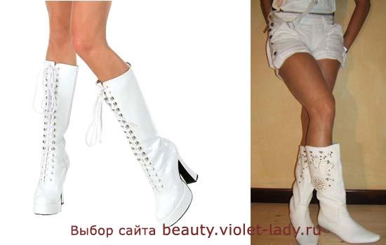 Летние белые сапоги в Украине Сравнить цены, купить