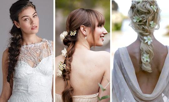 Свадебные прически с косами