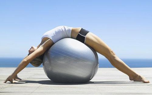 Гимнастика на фитболе для похудения