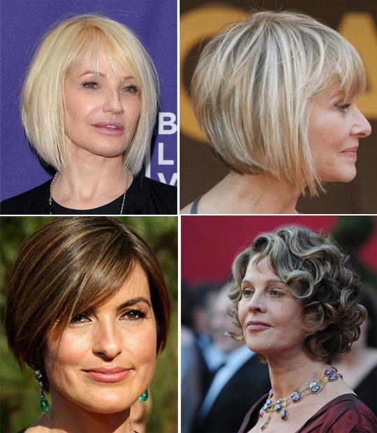 короткие стрижки для женщин 45 лет фото