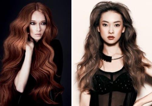 Стильные укладки на длинные волосы