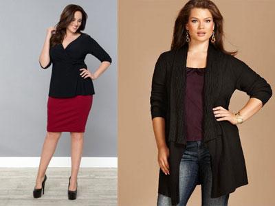Модная женская одежда для полных