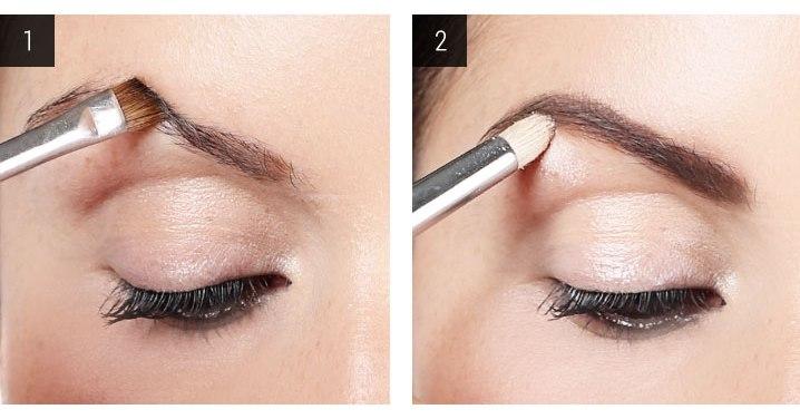 вечерний макияж карих глаз шаг 1 и 2