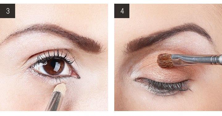 вечерний макияж для карих глаз шаг 3 и 4
