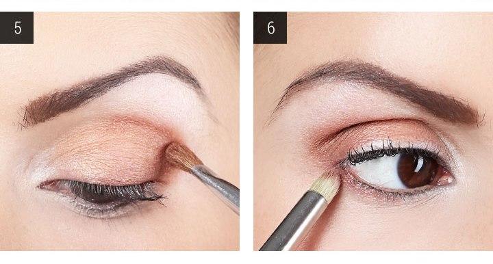 вечерний макияж для карих глаз шаг 5 и 6