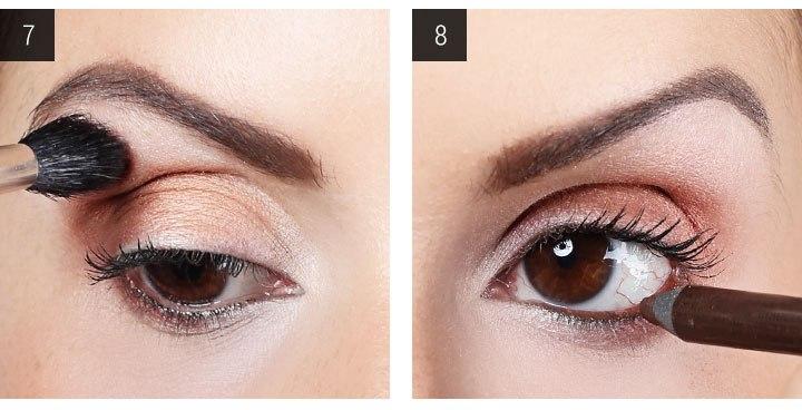 вечерний макияж для карих глаз шаг 7 и 8