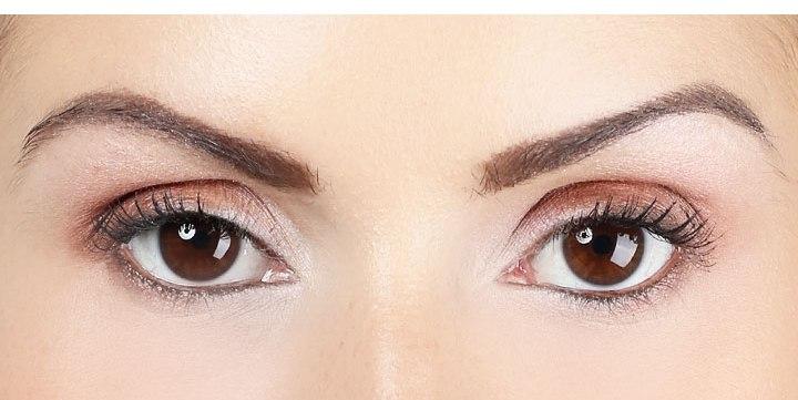вечерний макияж карих глаз фото