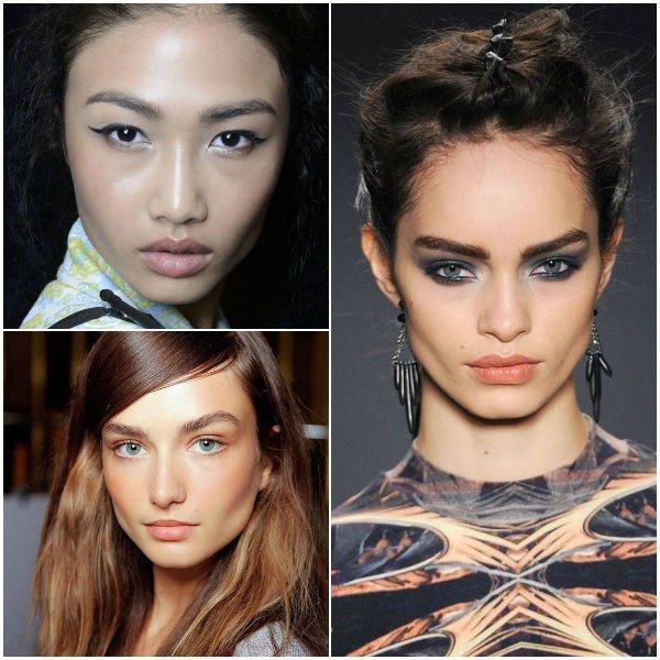 модный макияж бровей 2014
