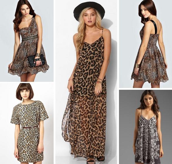 Как носить леопардовое платье короткое