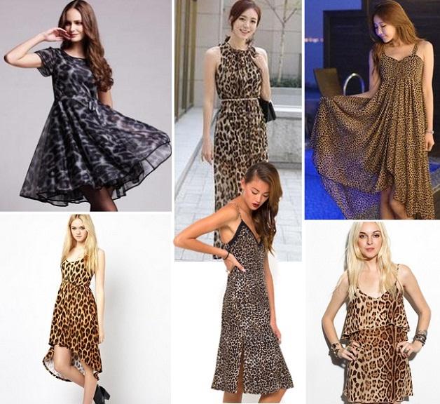 Платье из леопардового шифона