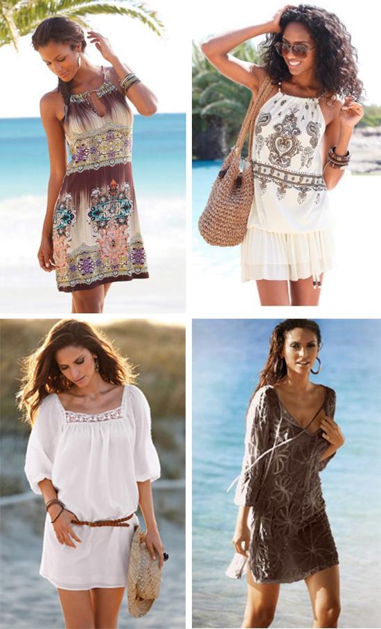 Пляжные платья с принтом