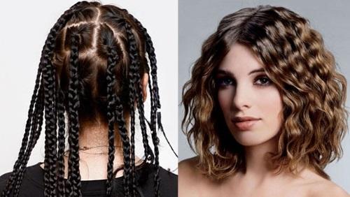 завивка волос косичками