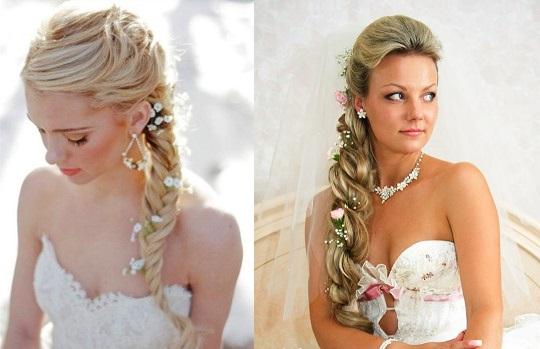 Свадебные прически с оригинальным плетением