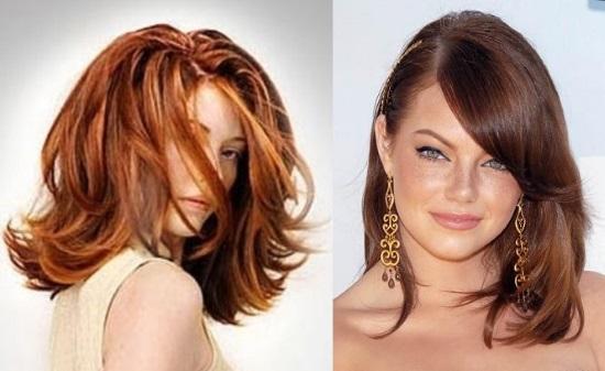 укладка феном на средние волосы