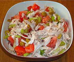 салат из сельдерея с курицей