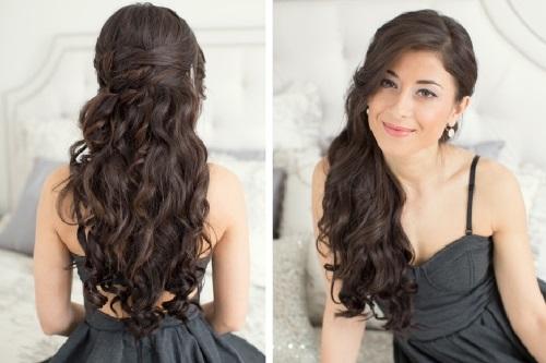 укладка локонами на длинные волосы