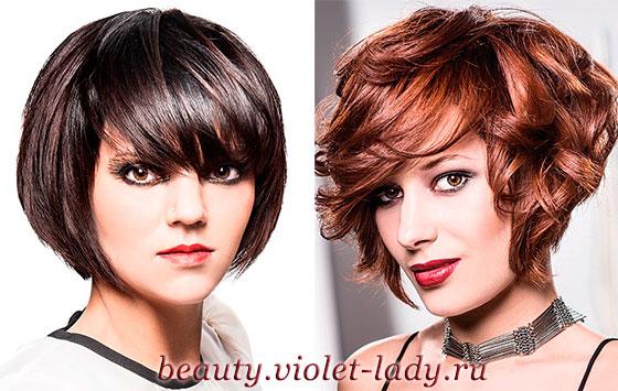 Прическа каре фото на короткие волосы с челкой