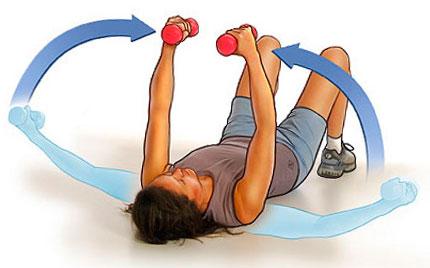 упражнения для упругости груди