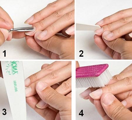 подготовка ногтей к шеллаку