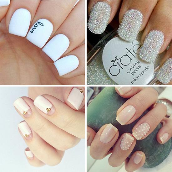 Красивый декор ногтей для свадьбы