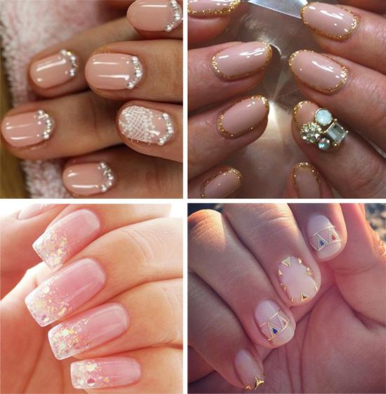 Красивый дизайн ногтей в свадебном стиле