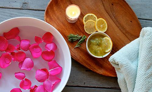 ванночки для ног с лимонным соком