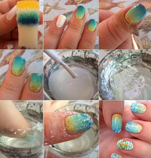 Как красиво накрасить ногти обычным лаком видео