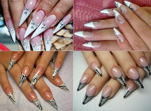 фото рисунки на длинных острых ногтях