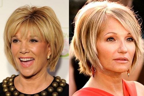 стрижки на средние волосы 2017 женские с челкой после 40 лет