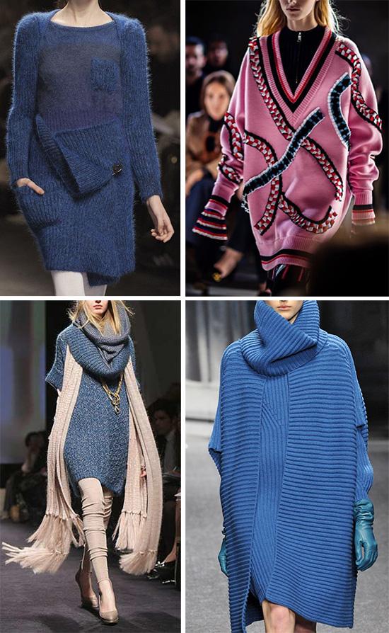 Вязаные платья в стиле оверсайз: эффектно, стильно, комфортно