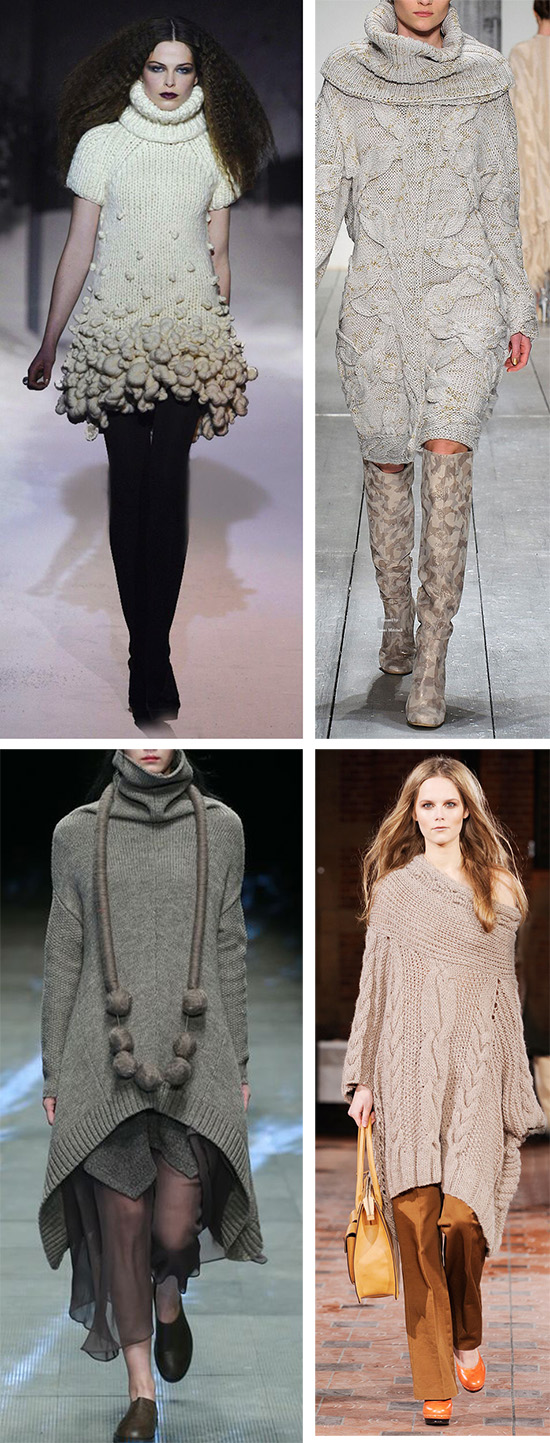 Дизайнерские решения на тему платья свитера