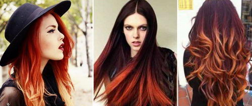 Винный цвет волос