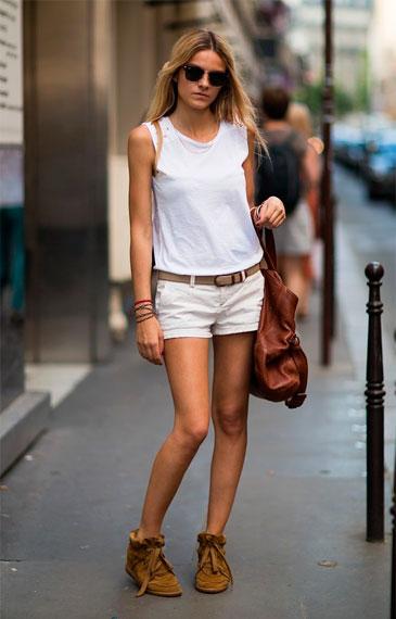белые шорты женские с чем носить фото