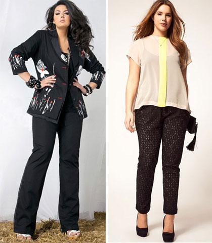 одежда для невысоких полных женщин фото