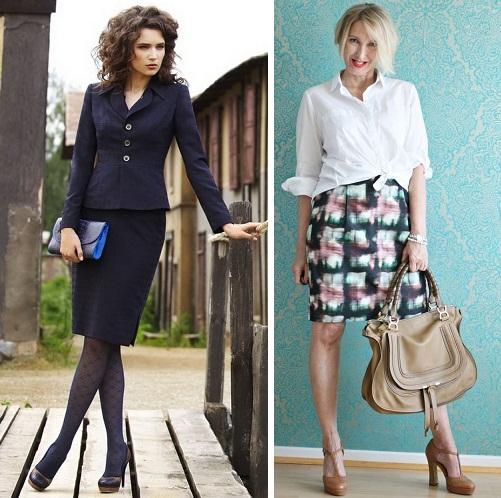 Модели юбок для женщин 45-55 лет фото
