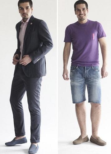 К ним подойдет практически любая одежда, главное, чтобы она была  повседневной. Например, синие мокасины отлично смотрятся с различными  джинсами и ... 935dd6000de