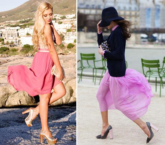 Девушки в розовой юбке фото