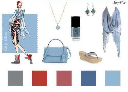 d1ada1b7c908 Второй модный цвет сезона Airy Blue – это нежнейший воздушно-голубой  оттенок. Он такой же безмятежный, как цвет неба. Дарит ощущение свободы и  легкости.