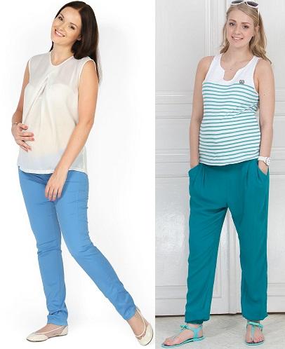 Летние брюки для беременных: выбираем и носим